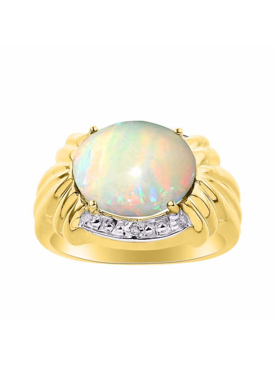 Details about  /Birthstone October Opal Round Cabochon Gemstone 14k Yellow Gold Stud Earrings