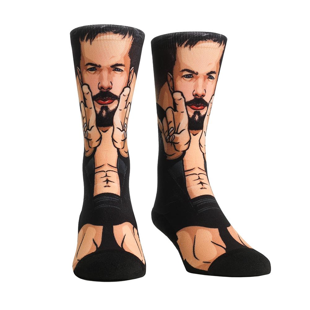 Official Wwe Authentic Finn Ba�Lor Rock 'Em Socks Multi 10-13