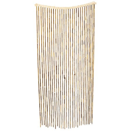 All Fun Gifts Bamboo Beaded Door Curtain - 3ftx6ft / Brown (Custom Beaded Door Curtains)