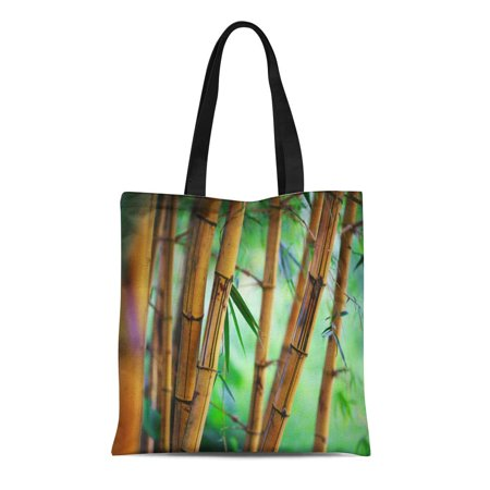 ASHLEIGH Canvas Bag Resuable Tote Grocery Shopping Bags Green Zen Bamboo Forest Shallow Dof Garden Nature Serene Feng Tote Bag