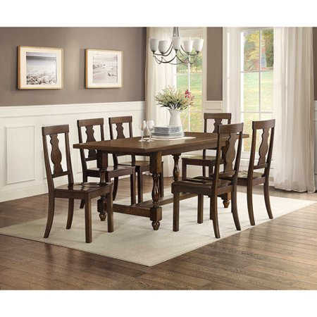 Better Homes and Gardens Providence 7 Piece Dining Set with Wood Chairs