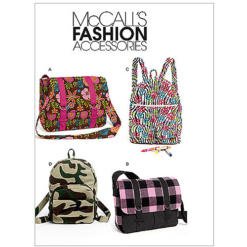 McCall's Pattern Backpacks and Bags, 1 Size Only
