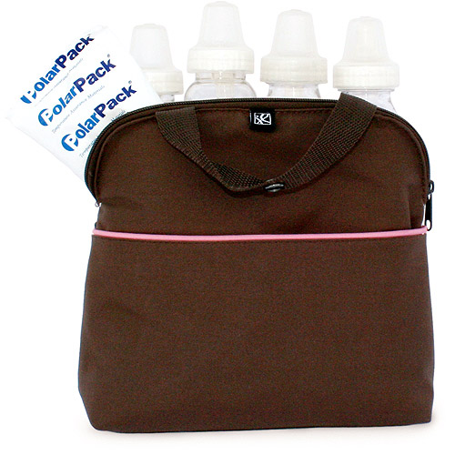 JL Childress - MaxiCOOL Multi-Purpose Bottle Bag, Cocoa/Pink