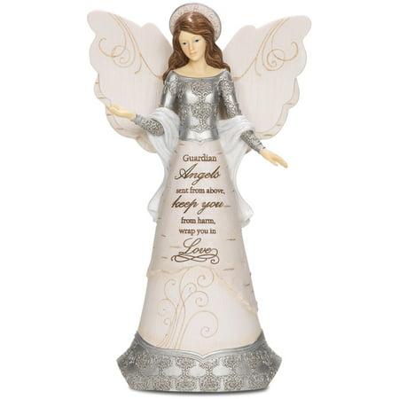 Pavilion Gift Company- Guardian Angel Figurine, 9 Inch