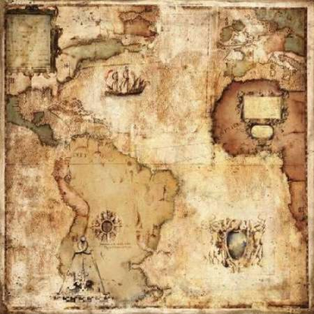Map of Discovery Poster Print by Paul Panossian (24 x 24)
