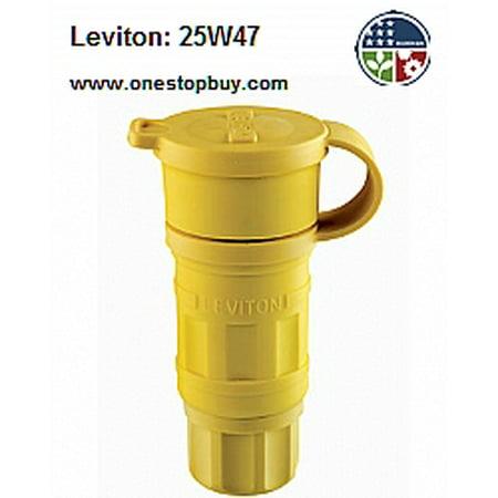 - Leviton 25W47 Connector Locking Blade Wetguard L5-15R 15A 125V 2P3W Grounding - Yellow