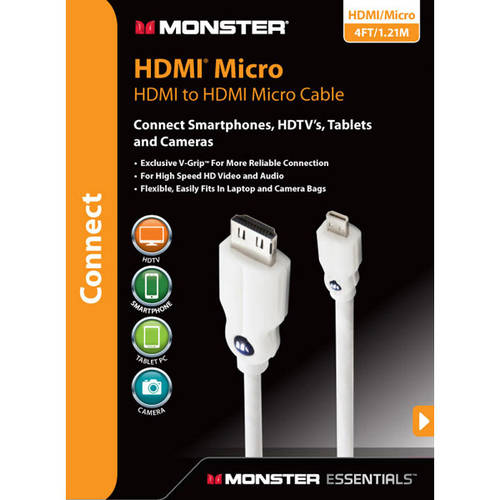 Monster Essentials Micro HDMI Cable