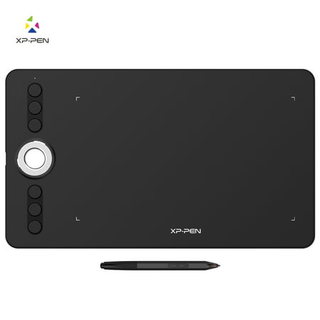 XP-PEN Deco 02 Digital Graphics Drawing Tablet Drawing Pen Tablet with Battery-free Stylus and 6 Shortcut Keys 8192 levels pressure 10x6 Inch