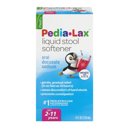 - Fleet Children's Pedia-Lax Liquid Stool Softener, Fruit Punch, 4 Fl Oz