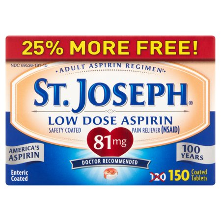 St  Joseph Aspirin Pain Reliever 81 Mg Enteric Coated Tablets  120 Ct
