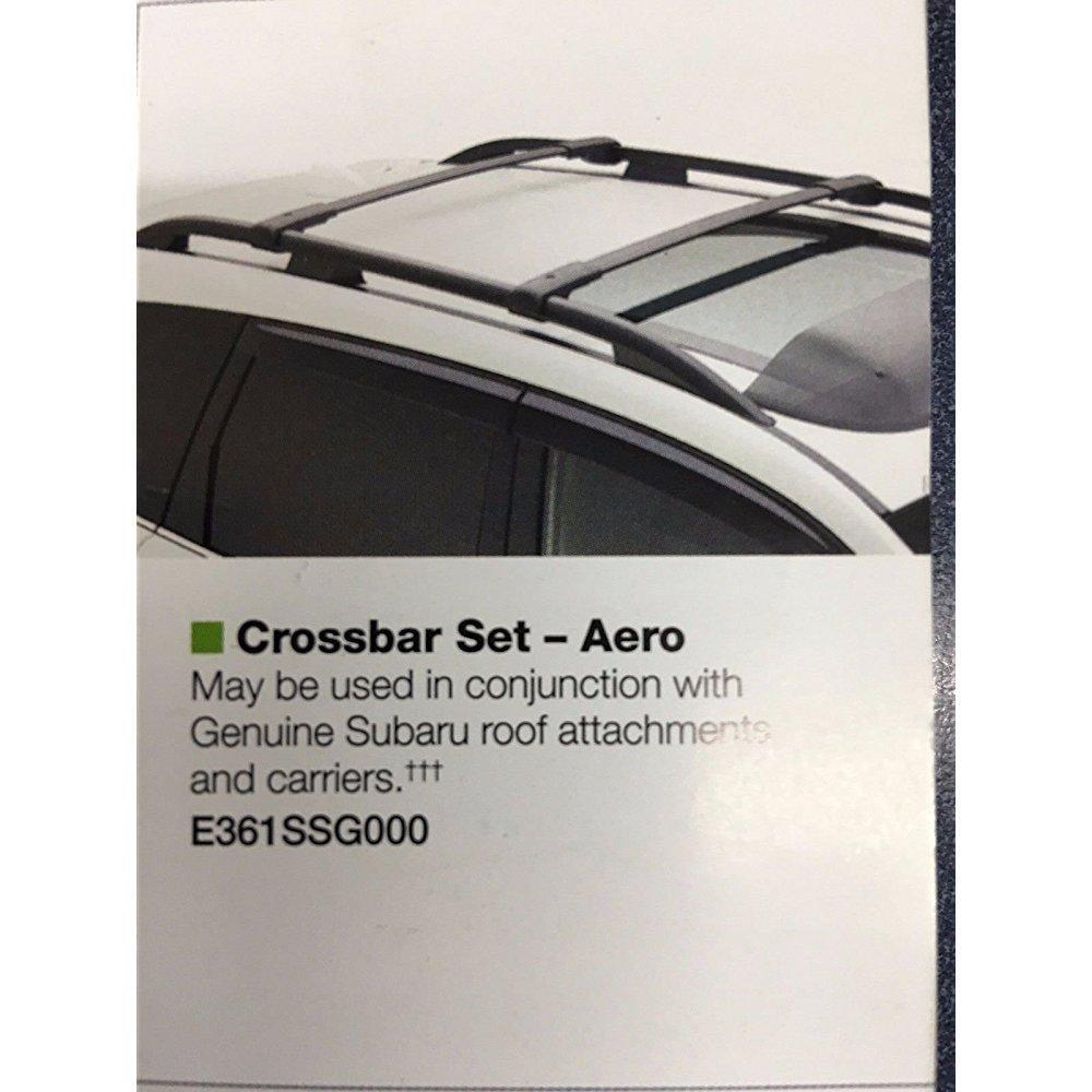 2014 -2017 subaru forester oem aero cross bars roof rack ...
