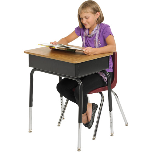 Metal Open Front Kids Desk, Set of 2