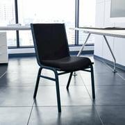 Flash Furniture Heavy Duty Black Dot Fabric Stack Chair