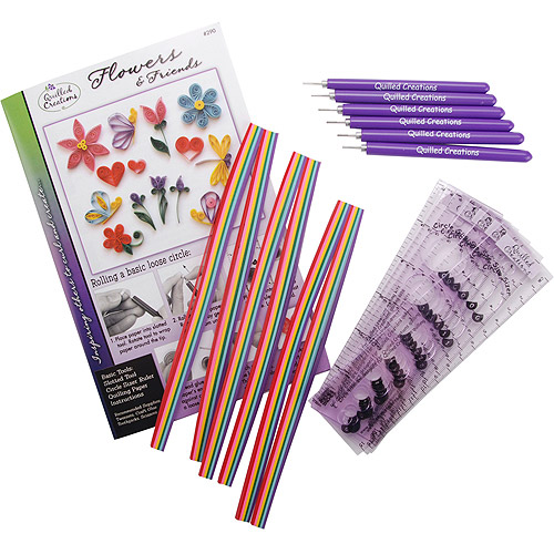Quilled Creations Quilling Kit Class Pack, Flowers & Friends