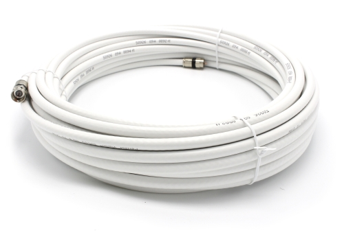 75' feet white RG6 coax, coaxial cable with two male F-pin Male connectors by THE CIMPLE CO