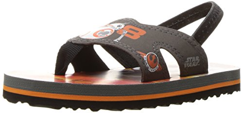 Stride Rite Boys' Star Wars BB-8 Droid EVA Flat, Grey Orange, 10 M US Toddler by Stride Rite