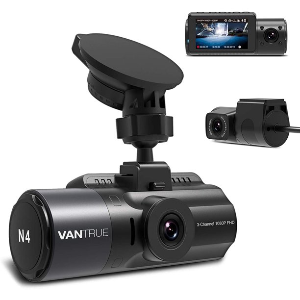 Vantrue N4 3 Channel Dash Cam, 4K+1080P
