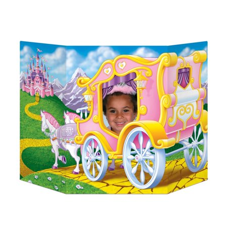 Pack of 6 Princess Themed Royal Carriage Ride Photo Prop Decorations 37
