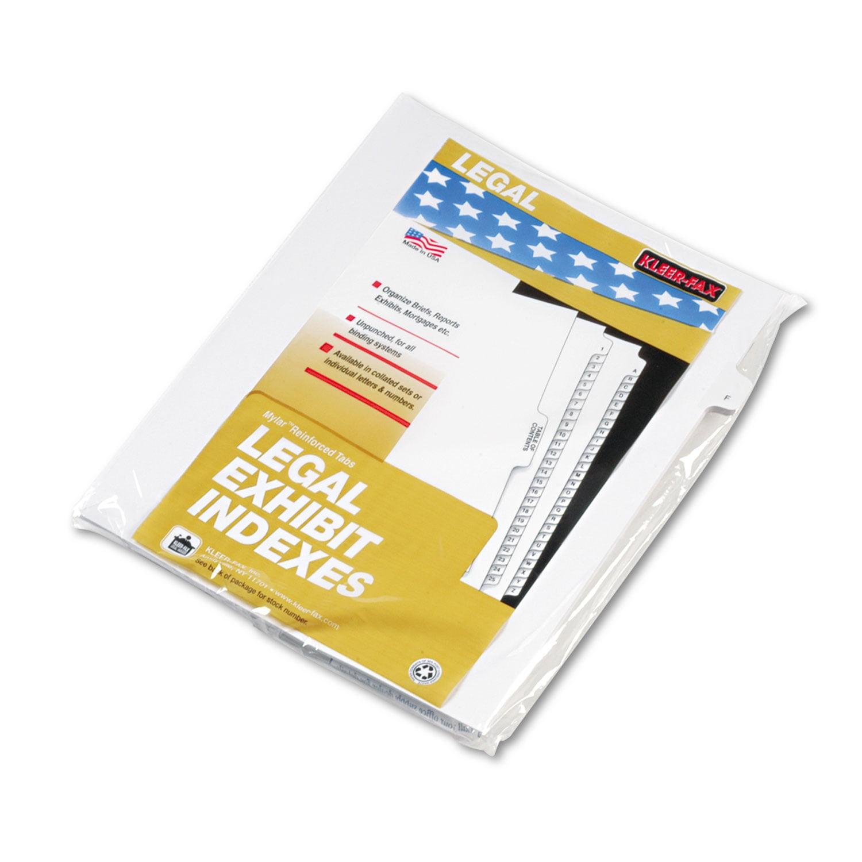 "90000 Series Alpha Side Tab Legal Index Divider, Preprinted ""F"", 25/Pack"