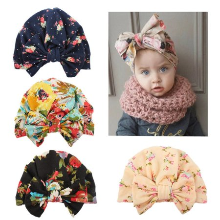 b2610ad3270 Honganda - Trendy 1Pcs New Infant Newborn Baby Boy Girl Winter Warm Beanies  Cotton Wrapped Caps Turban Hats - Walmart.com