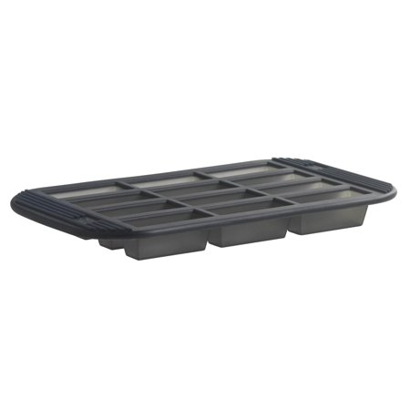 12 Mini Cake/Brownie Pan, Translucent gray pan made of non-stick silicone By Orka ()