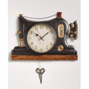 Retro Metal Pendulum Wall Clocks (Sewing Machine)