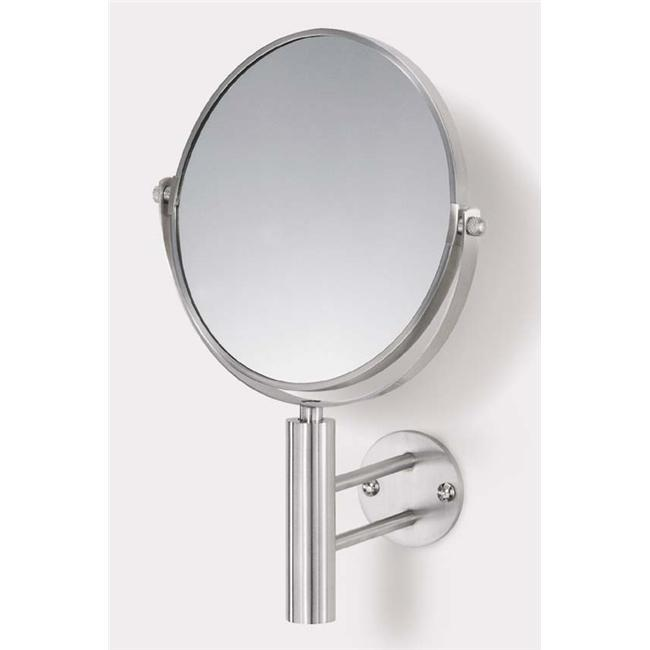 Zack 40115 FELICE wall mirror total h. 11. 43 inch Stainless Steel