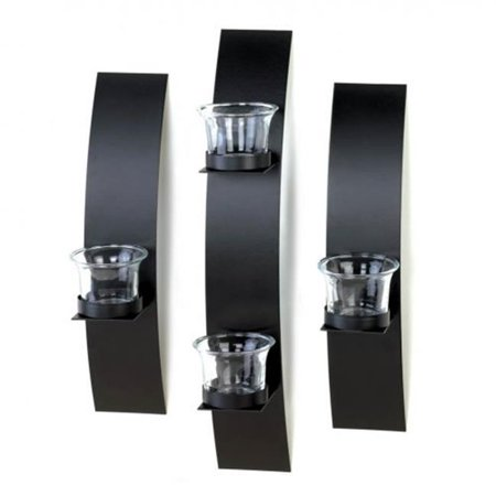 Black Wall Candleholder Set ()