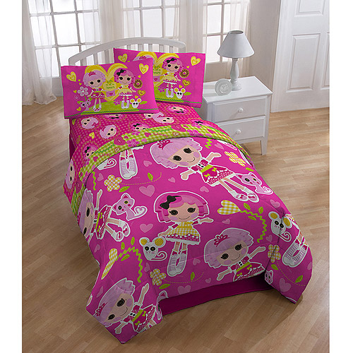 Lalaloopsy 4-Piece Reversible Twin Bedding Set with Bonus Tote