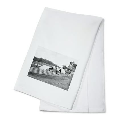Gettsyburg, PA - Camp of Captain John Hoff Civil War Photograph (100% Cotton Kitchen Towel)