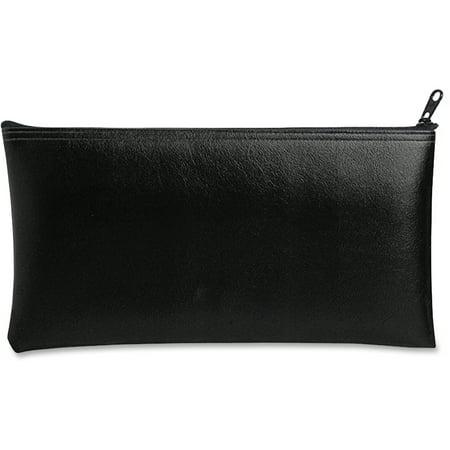 Leatherette Zippered Wallet, Leather-Like Vinyl, 11w x 6h, Black -MMF2340416W04