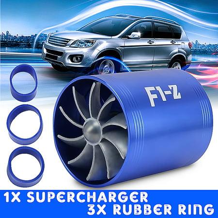 - Supercharger Air Intake airintake Dual Fan Turbonator Fuel Saver For Turbo Turbine Supercharger