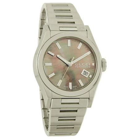 d6912255450 Gucci - 115 Pantheon Bronze MOP Date Swiss Quartz Watch YA115401 -  Walmart.com