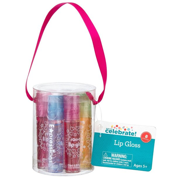 Lip Gloss Can Party Favors, 8 ct