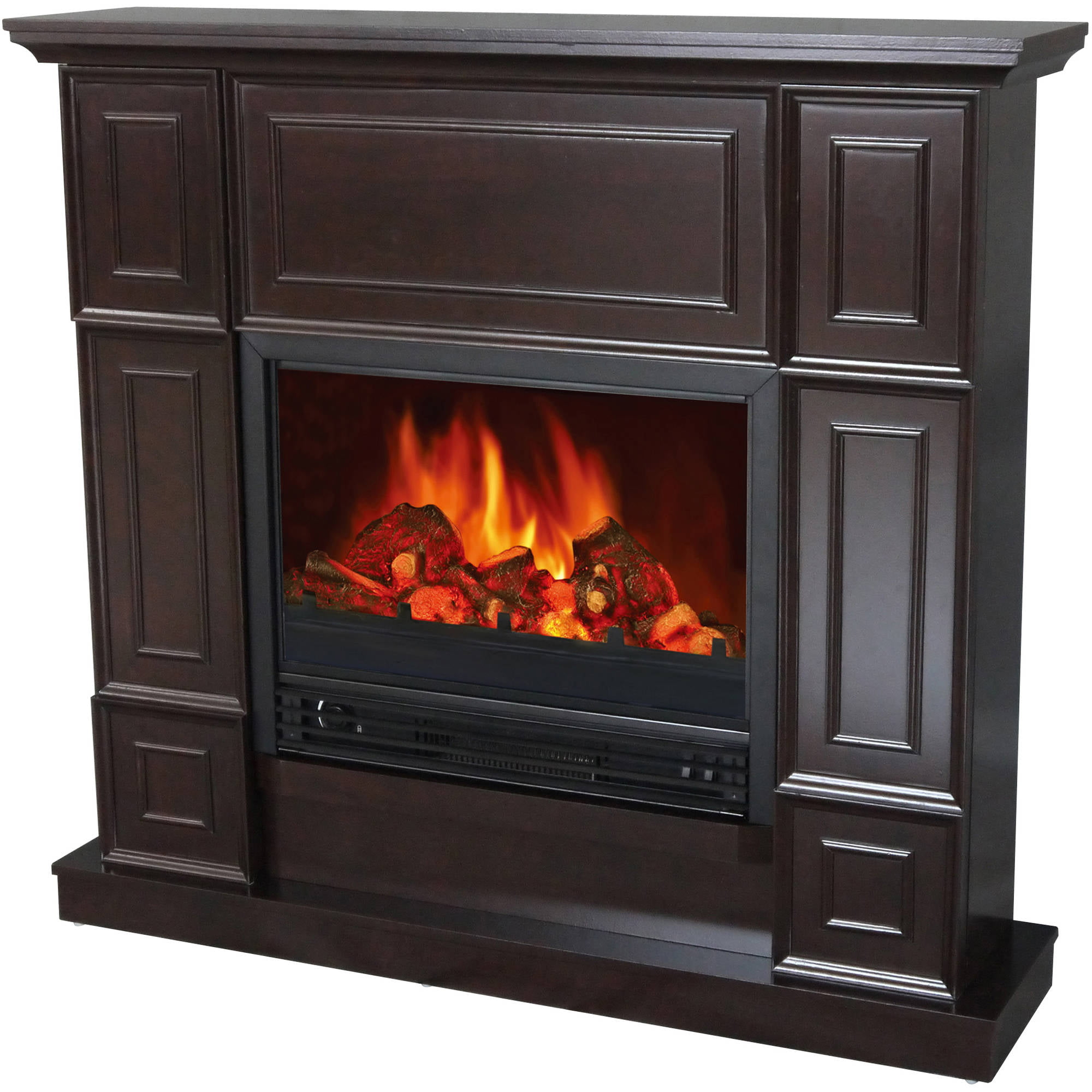 "Free Shipping. Buy Decor-Flame Electric Fireplace Space Heater with 44"" Mantle at Walmart.com"