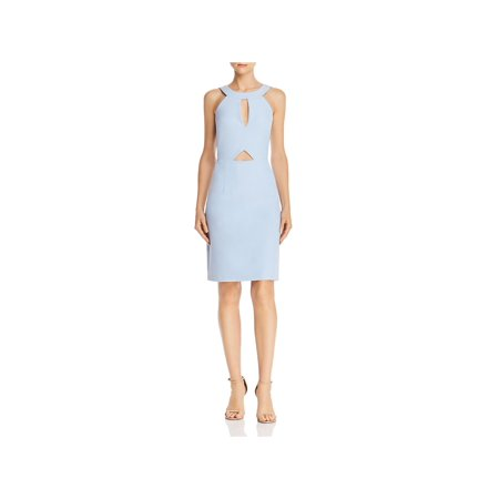 Laundry by Shelli Segal Womens Cut-Out Halter Sheath Dress Halter Sheath Dress