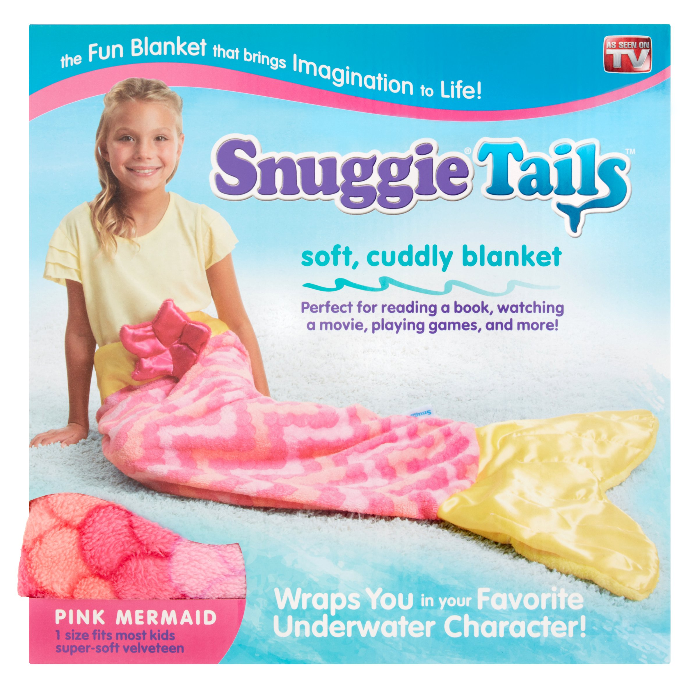 Snuggie Tails Pink Mermaid Soft, Cuddly Blanket by Allstar Products Group