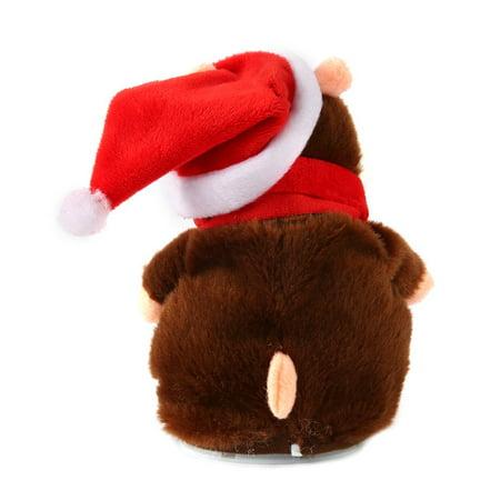 Funny Walking Talking Speaking Nodding Hamster Plush Toy Animal Kids Toy - image 4 of 9
