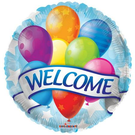Welcome 18 Inch Mylar Balloon Bulk (10 - Welcome Balloon
