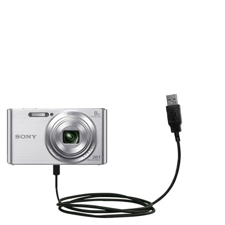 Classic Straight USB Cable suitable for the Sony DSC-W830 with Power Hot Sync and Charge Capabilities - Uses Gomadic TipExchange