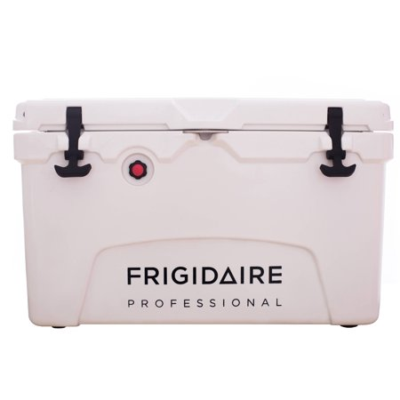 Frigidaire Professional - Rotomolded Cooler, 3-Day Ice Retention, Heavy Duty Sealed Ice Chest (Built-in Bottle Opener, Cup Holder,incl.) for Camping, Fishing, and Other