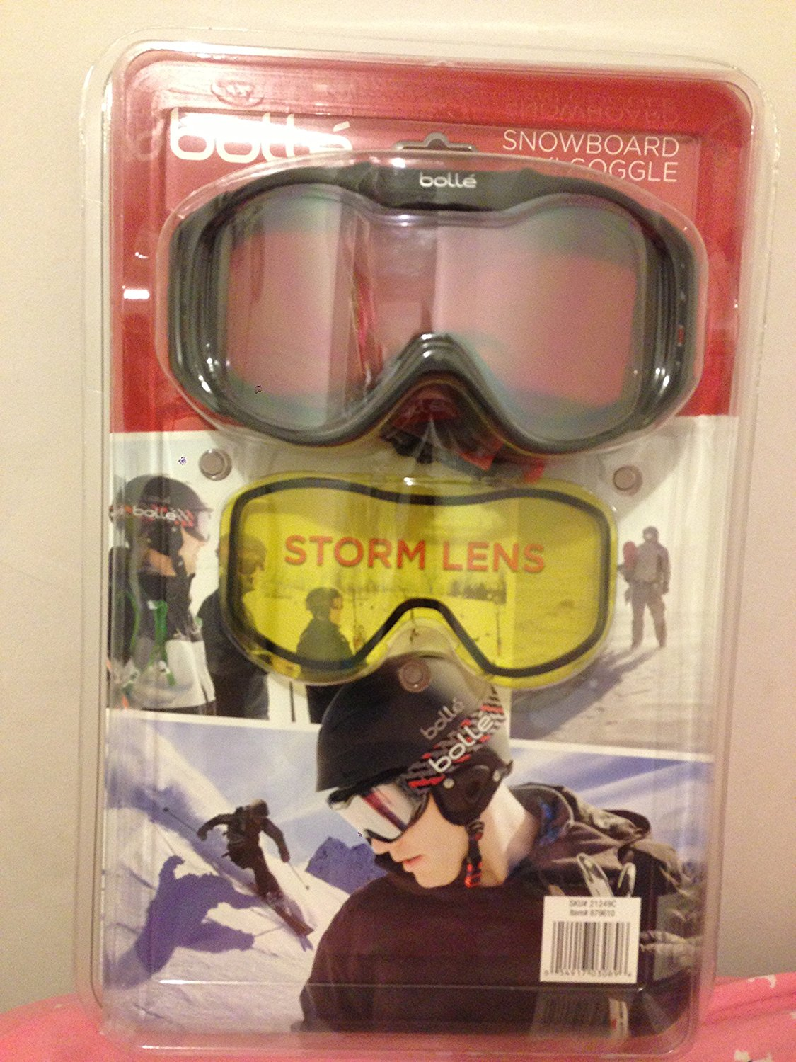 Snowboard Ski Goggle w  Lemon Storm Lens, Black, By Bolle from USA by