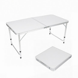 Click here to buy Height Adjustable Indoor Outdoor Folding Camping Table for Picnic, Party, Camping by OUTAD.