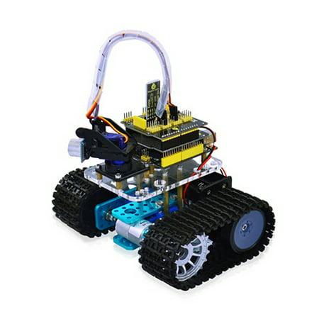 Diy Aluminum Alloy Tank Track Chassis Smart Robot Kit
