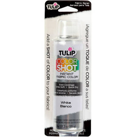 Tulip Color Shot Fabric Spray Aerosol White - Acrylic Coating Aerosol Spray