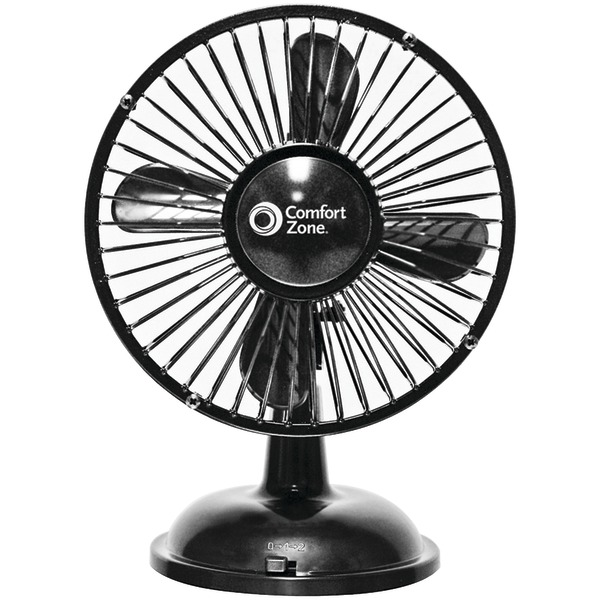 COMFORT ZONE OSCILLATING DESK FAN BLK