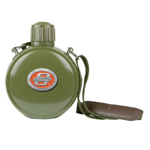Oklahoma State Cowboys Colored Logo Canteen with Compass by