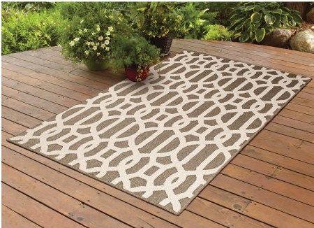 better homes and garden brown trellis area rug