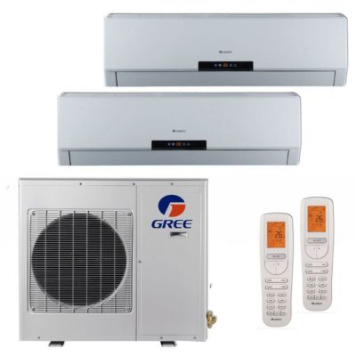 Gree MULTI18BNEO200 - 18,000 BTU +Multi Dual-Zone Wall Mount Mini Split Air Conditioner Heat Pump 208-230V (9-9)