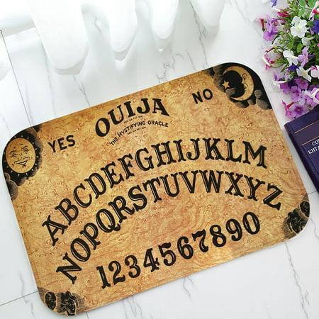 ZKGK Ouija Board Non-Slip Doormat Indoor/Outdoor/Bathroom Doormat 23.6 x 15.7 (Single Matboard)
